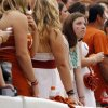 A Texas fan looks stunned after OU scored a safety in the second quarter during the Red River Rivalry college football game between the University of Oklahoma (OU) and the University of Texas (UT) at the Cotton Bowl in Dallas, Saturday, Oct. 13, 2012. Photo by Nate Billings, The Oklahoman