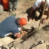Photo - From left to right,  Brandon Parker, a Norman North High School student, and Aaron Fournier, a University of Okahoma student, are digging at the Homestead Quarry during the 2012 Native Explorers/Explorology Expedition.