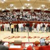 Photo - Former players are recognized before the last high school basketball game at Boney Matthews Fieldhouse  high school basketball game in Purcell, Okla., Friday, Feb. 1, 2008.  BY BRYAN TERRY, THE OKLAHOMAN ORG XMIT: KOD