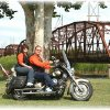 "Ron and Ann Sipes from Midwest City are members of the Star Chapter 378 Touring and Riding Motorcycle Association\'s north OKC chapter. They are posing at our first portrait photo shoot with the historic steel cantilever bridge and a section of the original Mother Road, Route 66 at Lake Overholser in the background. The theme for this event is ""It\'s not the destination that counts, It\'s the journey"". Community Photo By: Garry Baird Submitted By: Garry, Oklahoma City"