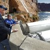 Interior Secretary Ken Salazar, left, watches the high-flow release of water into the Colorado River from bypass tubes at Glen Canyon Dam in Page, Ariz., Monday Nov. 19. 2012. Federal water managers began started a 5-day high-flow experimental release to help restore the Grand Canyon\'s ecosystem. (AP Photo/The Arizona Republic, Rob Schumacher) MARICOPA COUNTY OUT; MAGS OUT; NO SALES