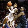 Oklahoma\'s Romero Osby (24) is fouled by TCU\'s Devonta Abron (23) on his way to the hoop during an NCAA men\'s basketball game between the University of Oklahoma (OU) and Texas Christian University (TCU) at the Lloyd Noble Center in Norman, Okla., Monday, Feb. 11, 2013. Photo by Nate Billings, The Oklahoman