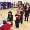 Voters line up at Deer Creek Middle School, Tuesday, November 2, 2010. Staff photo by David McDaniel, The Oklahoman
