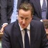 Britain\'s Prime Minister David Cameron speaking to the House of Commons in London in this image taken from TV Friday Jan. 18, 2013, where the prime minister spoke about the kidnap situation in Algeria. (AP Photo/PA) UNITED KINGDOM OUT