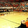 Women\'s basketball head coach Kurt Budke watches his team scrimmage during Oklahoma State University Homecoming and Hoops at Gallagher-Iba Arena in Stillwater, Okla., Friday, Oct. 19, 2007. By MATT STRASEN, The Oklahoman