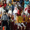 Oklahoma\'s Kenny Stills (4) catches a touchdown pass against Iowa State\'s Jeremy Reeves (5) in the second quarter during a college football game between the University of Oklahoma (OU) and Iowa State University (ISU) at Jack Trice Stadium in Ames, Iowa, Saturday, Nov. 3, 2012. Photo by Nate Billings, The Oklahoman