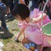 Two-year-old Emily Vasquez picks up eggs during the University of Central Oklahoma\'s Easter Egg Hunt on the UCO campus in Edmond, OK, Saturday, April 3, 2010. By Paul Hellstern, The Oklahoman