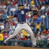 Photo - San Diego Padres' Tyson Ross pitches during the first inning of a baseball game against the Philadelphia Phillies, Wednesday, June 11, 2014, in Philadelphia. (AP Photo/Matt Slocum)