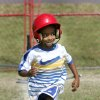 8-year-old Millyan Stinson runs to first base during sports camp at Oklahoma City Community College Oklahoma City, Oklahoma June 1, 2009. Photo by Steve Gooch, The Oklahoman