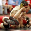 Union\'s Ty Ash wrestles Broken Arrow\'s Chase Ferman in the 6A 145-pound class during the finals of the State dual wrestling championship at Yukon High School in Yukon, Okla., Saturday, Feb. 11, 2012. Photo by Sarah Phipps, The Oklahoman