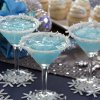 For holiday entertaining try a Jack Frost party theme with martinis made from pineapple juice, coconut, vodka and blue curacao. (Ross Hailey/Fort Worth Star-Telegram/MCT)