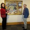 Debbie Smith, Robert Uplinger enjoy the artwork. (Photo by Helen Ford Wallace)