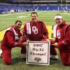 Rajah Kenney, Kyle Whitmus, and Mark Bove celebrate a Big 12 Championship as members of the Pride of Oklahoma. Community Photo By: Melanie Norris Submitted By: Kyle, Norman