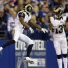 Photo - St. Louis Rams wide receiver Tavon Austin, left, celebrates with wide receiver Chris Givens after scoring a touchdown against the Indianapolis Colts during the first half of an NFL football game in Indianapolis, Sunday, Nov. 10, 2013. (AP Photo/Darron Cummings)