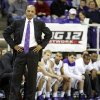 Photo - TCU head coach Trent Johnson watches the action in the second half of an NCAA college basketball game against Oklahoma Saturday, March 8, 2014, in Fort Worth, Texas. TCU went 0-18 this season with Oklahoma winning 97-67. (AP Photo/Sharon Ellman)