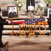 Firefighters fold the American flag during the funeral of slain Nichols Hills Fire Chief Keith Bryan at the Bridge Assembly of God in Mustang, OK, Saturday, Sept. 24, 2011. By Paul Hellstern, The Oklahoman