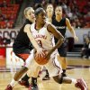 Cal State Northridge\'s Randi Friess (22) pressures Oklahoma\'s Aaryn Ellenberg (3) in the first half during a women\'s college basketball game between the University of Oklahoma (OU) and Cal State Northridge at the Lloyd Noble Center in Norman, Okla., Saturday, Dec. 29, 2012. Photo by Nate Billings, The Oklahoman