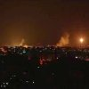 This image made from video shows the Gaza skyline during Israeli airstrikes Thursday, July 17, 2014. Israel launched a large-scale ground offensive in the Gaza Strip Thursday, escalating a 10-day military operation to try to destroy Hamas\' weapons arsenal, rocket firing abilities and tunnels under the Palestinian territory\'s border with Israel.(AP Photo via AP video)