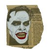 "This image released by Metropolis Collectibles, Inc. shows a drawing of actor Jack Nicholson as The Joker in Tim Burton\'s 1989 ""Batman,"" drawn by film producer Michael Uslan over a photo of the actor as Jack Torrance from the film"