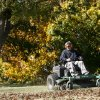 John Bracklein uses a mower to remove leaves on the grounds of the Myriad Botanical Gardens Wednesday, Dec. 5, 2007. By Jim Beckel, The Oklahoman
