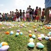 Children line up as UCO hosts an Easter egg hunt and carnival on the campus of the University of Central Oklahoma in Edmond, OK, Saturday, March 31, 2012, By Paul Hellstern, The Oklahoman