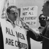 Hollywood\'s Oscar-winning biblical actor, Charlton Heston led a demonstration against segregated eating establishments in downtown Oklahoma City. Photo taken in 1961.