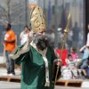 David Egan plays the part of Saint Patrick in the annual Saint Patrick\'s Day Parade in downtown Oklahoma City, OK, Saturday, March 16, 2013, By Paul Hellstern, The Oklahoman