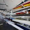 Rowing Shells are stacked in the Devon Boathouse during the Oklahoma Regatta Festival at the Oklahoma River on Saturday, Oct. 1, 2011, in Oklahoma City, Okla. Photo by Chris Landsberger, The Oklahoman