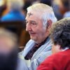 Robert Harrington returns to his seat after receiving palm ash on his forehead, Wednesday, Feb. 22, 2012, during Ash Wednesday service at SS. Joseph & Paul Catholic Church in Owensboro, Ky. The morning service had about 75 people in attendance, and an estimated 300 attended the noon service. Harrington has been a 76-year member of the parish. (AP Photo/The Messenger-Inquirer, John Dunham)