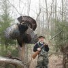Photo -  Max Elswick, 8, of Yukon shot this gobbler on the opening morning of spring turkey season in Roger Mills County. Spring turkey season continues through May 6 in most of the state. Photo provided  <strong> Photo provided </strong>