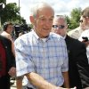 Republican presidential candidate Rep. Ron Paul, R-Texas, greets supporters at the Republican Party\'s Straw Poll in Ames, Iowa, Saturday, Aug. 13, 2011. (AP Photo/Charles Dharapak)