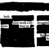 "Photo - GRAPHIC: Newspaper Blackout Poetry contest: Adult winner: Angela Lister ""Ties"""