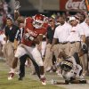Oklahoma\'s Dominique Whaley (8) goes down the sideline past Missouri\'s Matt White (17) during the college football game between the University of Oklahoma Sooners (OU) and the University of Missouri Tigers (MU) at the Gaylord Family-Memorial Stadium on Saturday, Sept. 24, 2011, in Norman, Okla. Photo by Chris Landsberger, The Oklahoman