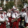 The Pride of Oklahoman Marching Band marches during the University of Oklahoma Homecoming Parade in Norman, Okla., Saturday, Oct. 20, 2012. Photo by Garett Fisbeck, The Oklahoman