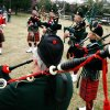 Photo -  Members of the Pipes and Drums of the Highlander's of Oklahoma play after the opening ceremonies at the Iron Thistle Scottish Heritage Festival and Highland Games at the Kirkpatrick Family Farm in Yukon Saturday March 21, 2009. Photo by Doug Hoke, The Oklahoman