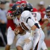Coweta\'s Hayden Holmes runs against Carl Albert during a high school football game at Carl Albert in Midwest City, Friday, September 7, 2012. Photo by Bryan Terry, The Oklahoman
