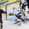 The Barons\' Taylor Hall scored a goal in Sunday\'s game against Houston. Photo by Morris Molina, Houston Aeros