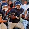 Shawnee\'s Jeremy Barrientos runs the ball during a high school football scrimmage in Norman, Okla., Friday, August 26, 2011. Photo by Bryan Terry, The Oklahoman