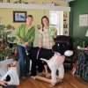 This 2010 photo released by Katie Jackson shows, Margaret Smith, left, and her niece Katie Jackson with a stuffed dog Jackson received for Christmas in Lewistown, Mont. For the past three years, Jackson has asked for a Leonberger, one of those gentle giant breeds that can cost up to $1,500 and would occupy a good chunk of her Long Island City apartment. While her parents have good reasons for not granting her wish, including cost and size, other people aren\'t so sure why their numerous gift hints year after year yield a big fat nothing, even when their sought-after treasures aren\'t out-of-this-world expensive. (AP Photo/Becky Jackson)
