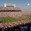NORMAN, OK: SEPTEMBER 4, 2004 COLLEGE FOOTBALL, FAN, FANS, CROWD: University of Oklahoma versus Bowling Green at The Gaylord Family - Oklahoma Memorial Stadium. The Oklahoma band plays during pregame of the OU - Bowling Green season opener. Staff Photo by Steve Sisney