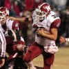 Wynnewood\'s Trey Knowles runs around end on a touchdown play against Wayne in high school Football on Friday, Oct. 26, 2012 in Wayne, Okla. Photo by Steve Sisney, The Oklahoman