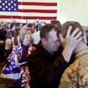 John Farrow welcomes home his son Justin during the return ceremony for more than 200 National Guard 45th Infantry Brigade Combat Team troops at the National Guard Base on Monday, March 12, 2012, in Oklahoma City, Oklahoma. Photo by Chris Landsberger, The Oklahoman