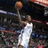 Oklahoma City\'s Serge Ibaka (9) saves a ball from out of bounds during the NBA game between the Oklahoma City Thunder and the Philadelphia 76ers at the Chesapeake Energy Arena in Oklahoma City, Friday,Jan. 4, 2013. Photo by Sarah Phipps, The Oklahoman