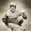 OSU\'s Pete Incaviglia is greeted at the plate after one of his 29 home runs last year. (STAFF PHOTO BY JIM BECKEL) (Photo shot April 9, 1984)