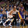 Oklahoma City\'s Russell Westbrook defends Los Angeles\' Kobe Bryant during an NBA basketball game between the Oklahoma City Thunder and the Los Angeles Lakers at Chesapeake Energy Arena in Oklahoma City, Tuesday, March 5, 2013. Photo by Bryan Terry, The Oklahoman