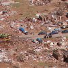 Tornado damage, aerial photos: A neighborhood in Midwest City near the end of the tornado\'s path.