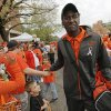 OSU\'s Justin Blackmon walks to the stadium during the Spirit Walk before the college football game between the Oklahoma State Cowboys (OSU) and the Nebraska Huskers (NU) at Boone Pickens Stadium in Stillwater, Okla., Saturday, Oct. 23, 2010. Photo by Nate Billings, The Oklahoman