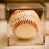"""At the request of Tricia from """"The Oklahoman"""" - Photos from the Edmond Senior Community Foundations\'s Art Auction at Oak Tree 1/26/07. Ella Sprung, from the chamber should be submitting a write-up for the story, but this is an authentic, signed baseball by the legend, Mickey Mantle, that was auctioned off that night to benefit the ESCF. Community Photo By: Christian Sangree, Prints Charming Photo Submitted By: Christian, Edmond"""