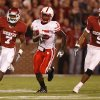 Oklahoma\'s DeMarco Murry (7) out runs Nebraska\'s Alfonzo Dennard (15) as Juaquin Iglesias (9) trails on the play during the first half of the college football game between the University of Oklahoma Sooners (OU) and the University of Nebraska Huskers (NU) at the Gaylord Family-Oklahoma Memorial Stadium, on Saturday, Nov. 1, 2008, in Norman, Okla. BY NATE BILLINGS, THE OKLAHOMAN