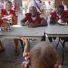 From left, OU\'s James Winchester, Ryan Broyles, Dejuan Miller, and Trey Franks sign autographs during the University of Oklahoma\'s Meet the Sooners Day at Gaylord Family-Oklahoma Memorial Stadium in Norman, Okla., Saturday, August 6, 2011. Photo by Bryan Terry, The Oklahoman